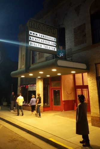Rialto Theater at night